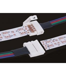 4 PZ Connettore 10mm Per Chiudere Striscia Led Smd RGB 5050 Senza Saldare