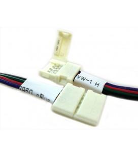 4 PZ Connettore 12mm Per Chiudere Striscia Led Smd RGB 5050 Senza Saldare
