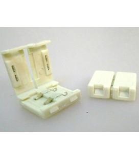4 PZ Connettore 12mm Per Unire Due Bobine Led Smd 5050 Mono Colore Senza Saldare