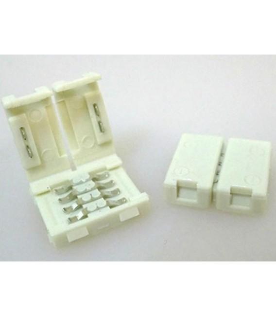 4 PZ Connettore 12mm Per Unire Due Bobine Led Smd RGB 5050 Senza Saldare