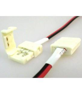 4 PZ Connettore 8mm Per Chiudere Striscia Led Smd 3528 Senza Saldare