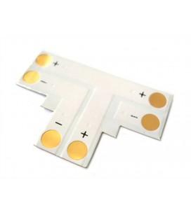 4 PZ Connettore Passo 10mm Forma T per Allungare e Curvare Striscia Led Mono Colore Larghezza 10mm