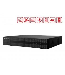 Videoregistratore DVR 4 Canali 5 In 1 HDTVI AHD CVI CVBS IP 4CH@4MP P2P Cloud H.265+ HiWatch HWD-6104MH-G2