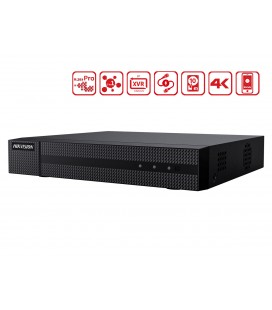 Videoregistratore DVR 8 Canali 5 In 1 HDTVI AHD CVI CVBS IP 8CH@4MP P2P Cloud H.265+ HiWatch HWD-6108MH-G2