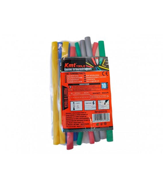 10 Pezzi Guaine Termorestringente Misura 5X120mm Colori Misti Assortiti