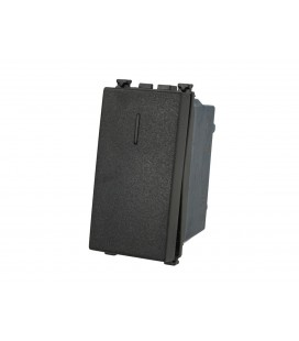 SANDASDON Deviatore 1P 16A Unipolare Nero Compatibile Vimar Arke