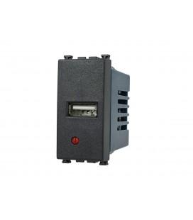 SANDASDON Modulo Caricatore USB Da Muro 5V 2,1A Nero Compatibile Vimar Arke