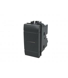 SANDASDON Deviatore Assiale 1P 10A 230V Nero Compatibile Bticino Living