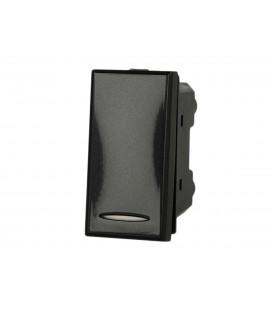 SANDASDON Deviatore 1P 16A Nero Compatibile Bticino Axolute