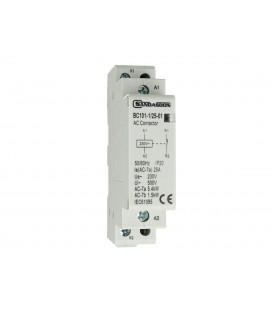 SANDASDON Contattore Modulare 1P Unipolare 25A 230V 1 Contatto Chiuso NC Tipo 01