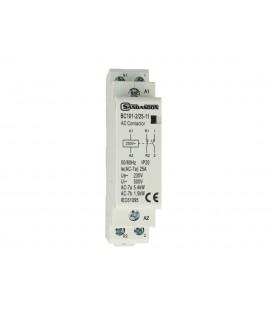 SANDASDON Contattore Modulare 2P Bipolare 25A 230V 1 Contatto Aperto NO + 1 Contatto Chiuso NC Tipo 11