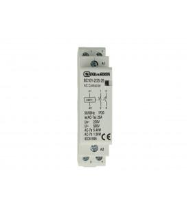 SANDASDON Contattore Modulare 2P Bipolare 25A 230V 2 Contatti Aperti NO Tipo 20
