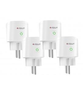 4 Pezzi Presa Smart WiFi Presa Schuko Spina EU 220V 16A Timer Monitoraggio Consumo Compatibile Con Alexa Google Home