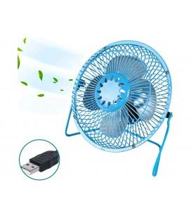 Mini Ventilatore Da Tavolo In Metallo Alimentazione Con USB Colore Misti Diametro 19cm